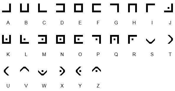kryptografie    symbolbasierte kodierungen    freimaurer code